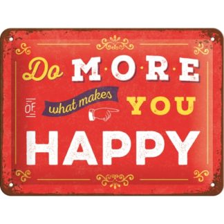 Postkarte aus Metall mit Motive Do More of what make you Happy
